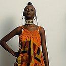 Thalia Neres com look do Afro Fashion Day assinado pela marca baiana Costa Ribeiro