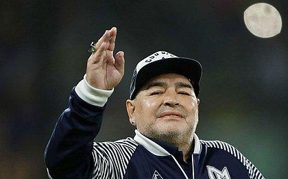 Maradona retirou um hematoma do cérebro