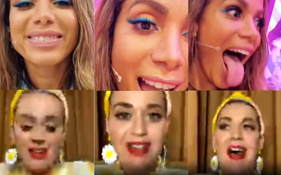 Anitta recebe Katy Perry em live e convida americana para gravarem música juntas