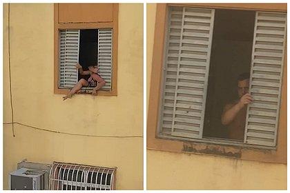 Mulher grávida tenta pular pela janela para fugir das agressões do marido