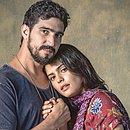 Jamil Zarif (Renato Goes) e Laila Faiek (Julia Dalavia): protagonistas da novela