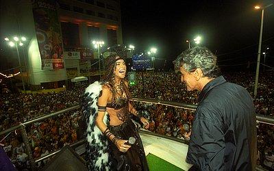 Com Caetano Veloso no Carnaval 2002