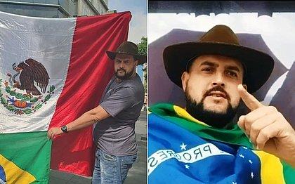 Zé Trovão gravou vídeos direto do México, onde é procurado pela PF