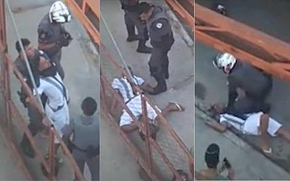 PM deixa homem desacordado após enforcá-lo durante abordagem violenta em SP; vídeo