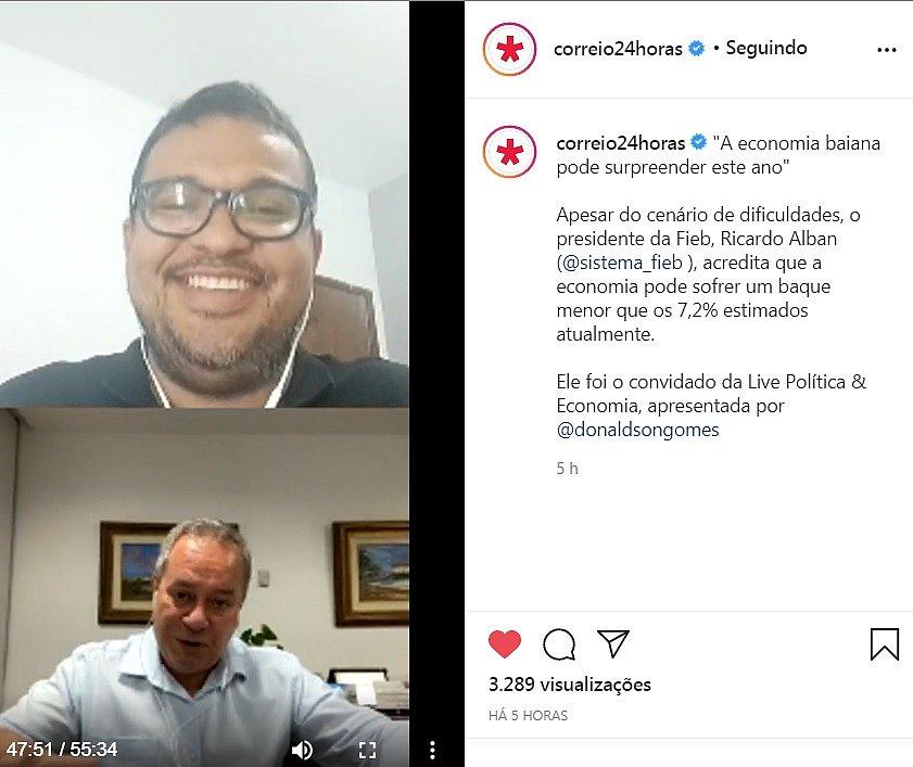 O jornalista Donaldson Gomes entrevistou Ricardo Alban