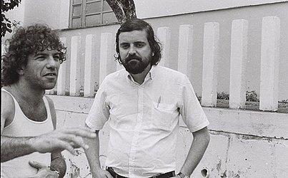 André Setaro e Artur Carmel em 1983.