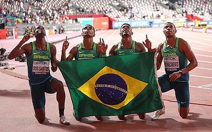 Time brasileiro ficou em quarto no revezamento 4x100 do Mundial de Doha