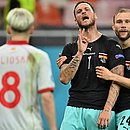 Arnautovic provocou Alioski logo após marcar o gol da Áustria