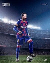 Sérgio Ramos com a camisa do Barcelona