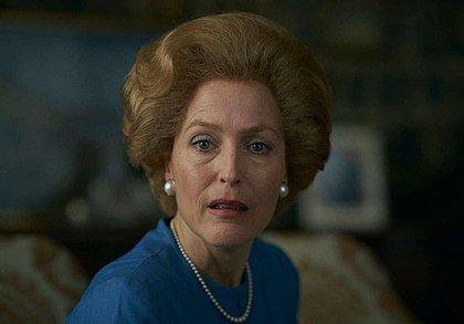 Gillian Anderson é perguntada se teve contato com Margareth Thatcher