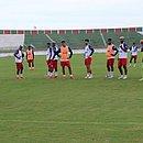 Bahia de Feira fez a preparação para o duelo contra o Bahia no estádio Joia da Princesa