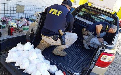 PRF recolhe 1,4 tonelada de cocaína nas rodovias baianas durante a pandemia
