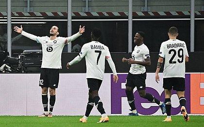 Yusuf Yazici marcou hat-trick para o Lille sobre o Milan
