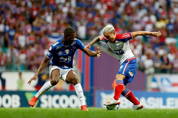 Com um homem a menos, Bahia fica no 0x0 com o Cruzeiro na Fonte