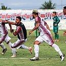 Equipe do Jacuipense comemora gol do acesso