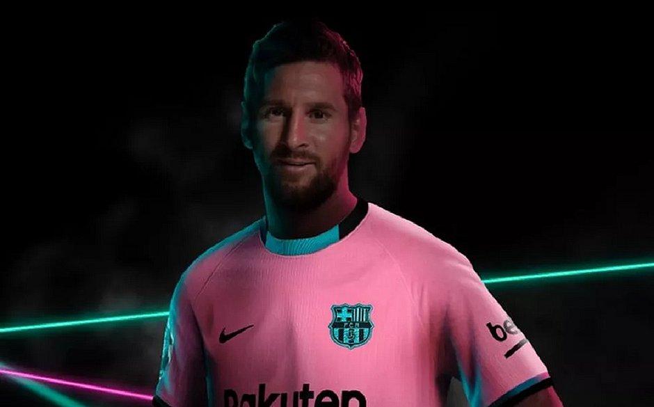 Terceira camisa do Barcelona teve Messi como modelo para apresentação