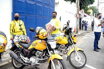 Mototaxistas têm até esta sexta-feira (4) para retirar cesta básica
