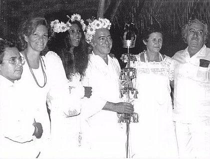 Calazans, Auta Rosa, Gessy, Vinícius, Jorge e Zélia