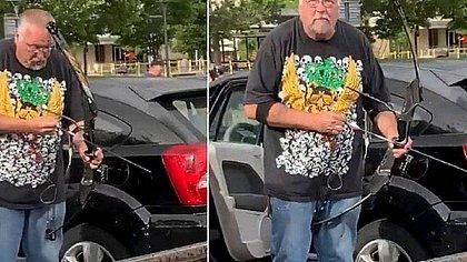 Homem branco dispara flecha contra protesto anti-racista nos EUA; veja vídeo