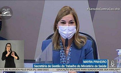 Mayra Pinheiro confirma que Ministério da Saúde orientou uso da cloroquina em Manaus