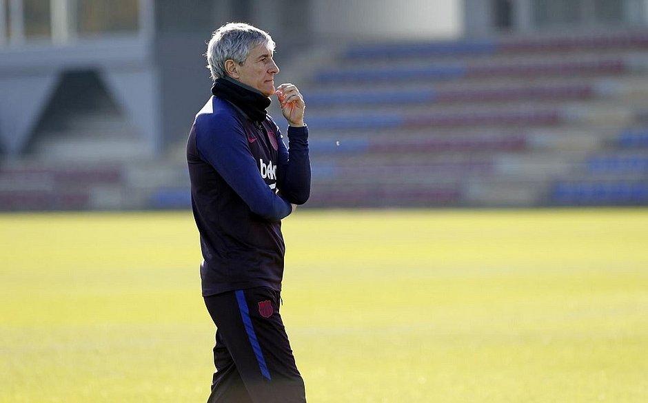 Novo técnico do Barça, Setién admite surpresa com contratação