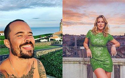 Ex-namorados, Luana Piovani e Paulinho Vilhena são flagrados no maior chamego