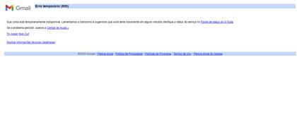Fora do ar: usuários relatam instabilidade nos serviços do Google