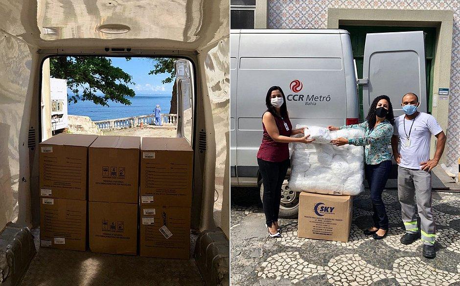 CCR Metrô Bahia doa 750 mil EPIs para hospitais de campanha em Salvador