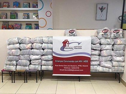 ONGs de Salvador recebem 10 toneladas de alimentos da Ação da Cidadania