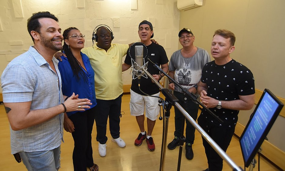 Alexandre Peixe, Janete (ex banda Mel), Ninha, Durval, Robson, (ex banda Mel) e Dito Martins