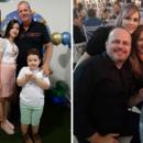 Edvaldo ao lado da esposa Celma e dos filhos Aíne e Kevin; Ricardo ao lado da esposa, Maria, e da filha Aline
