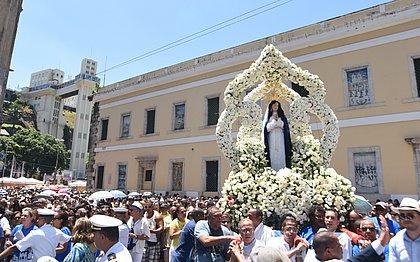Procissão em celebração à santa que aconteceu no ano passado