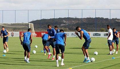 Elenco do Bahia voltou aos treinos de olho no clássico contra o Sport