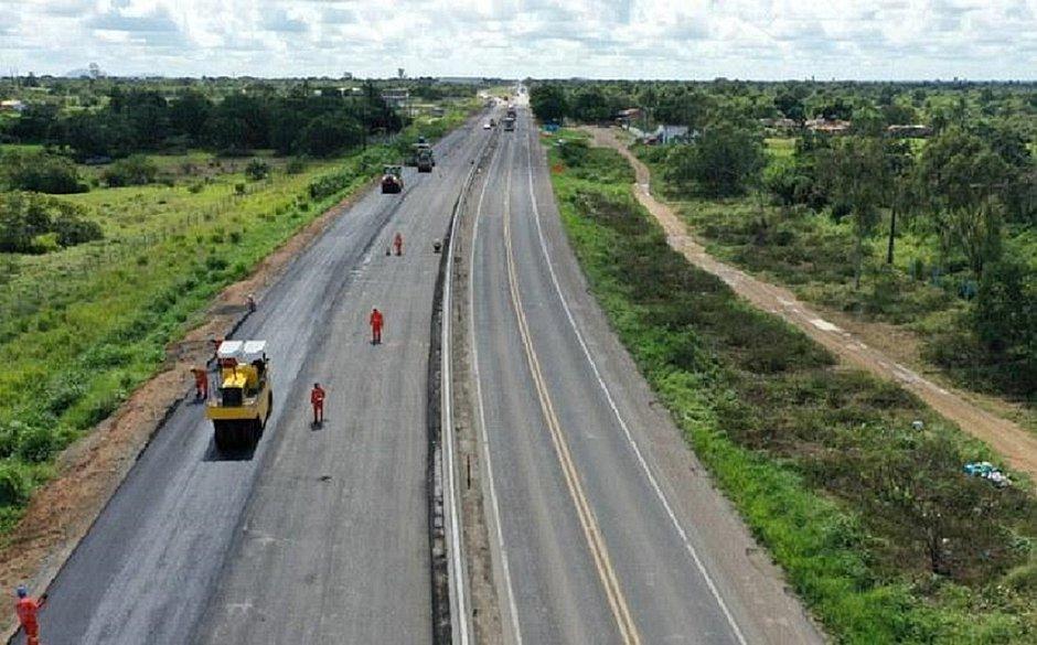 Mesmo com pandemia, obras de duplicação da BR-116 na Bahia avançam