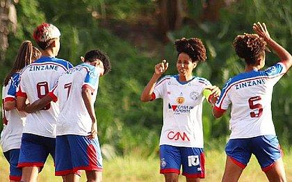Tricolor atropelou o Vitória dentro do Barradão pelo Baianão feminino
