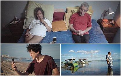 No sentido horário, baianos indicados à Competitiva de Longas: O Amor Dentro da Câmera, Rio de Vozes e Eu, Empresa