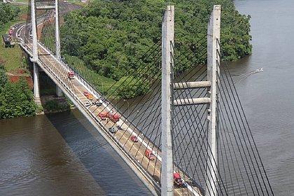 Ponte que liga Amapá e Guiana Francesa