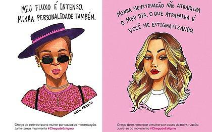 Ilustrações da cantora Karol Conká e da atriz Klara Castanho assinadas pela artista e influencer Nath Araújo