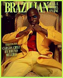 Carlos Cruz 26 anos. Alavancou a carreira depois do AFD 2017. Estampou revistas internacionais como Brazilian Magazine (foto) e Vogue. Posou para marcas como Track&Field, Samsung, Nestlé e Volkswagen.