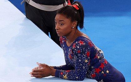 Simone Biles desistiu da disputa do individual geral