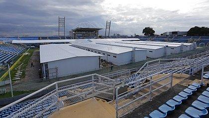 Hospital Emergencial de Campanha do Estádio Presidente Vargas, em Fortaleza