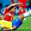 Neymar esteve apagado na partida contra a Bélgica