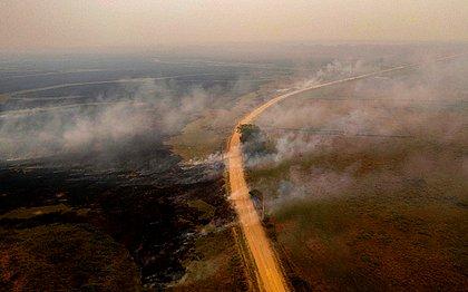 Região do Pantanal registra recorde de queimadas