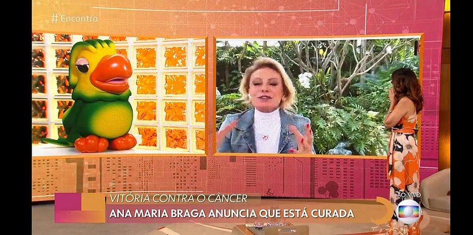 Ana Maria Braga anuncia que está curada do câncer: 'sumiu tudo'