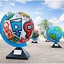 A exposição terá 18 globos em Salvador