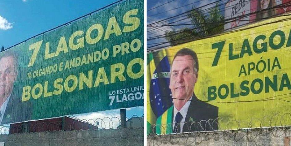 'Cagando e andando': cidade vive 'guerra de outdoors' pró e contra Bolsonaro – Jornal Correio