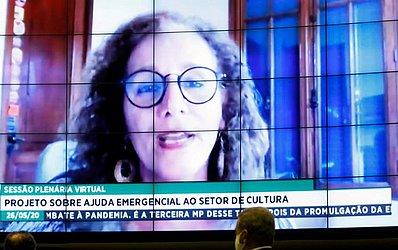 Jandira Feghali sugeriu que a lei seja chamada de Aldir Blanc, homenagem ao artista vitimado pela covid-19
