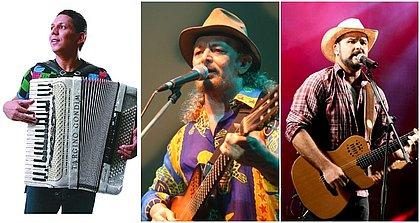 Targino Gondim, Geraldo Azevedo e Léo Macedo, da Estakazero estão no Festival de Forró