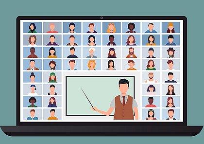 Mal cabe na tela: faculdades chegam a ter mais de 200 alunos em aulas remotas