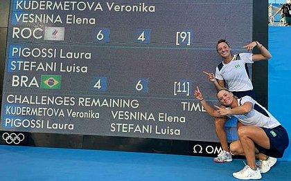 Tenistas Luisa Stefani e Laura Pigossi brilham e faturam bronze em Tóquio